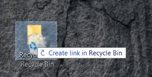 Enlace de la papelera de reciclaje