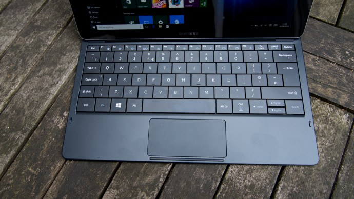 With its full keyboard and touchpad, the Galaxy TabPro S is a full-on laptop