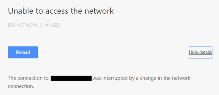 Easy Fixes For ERR_NETWORK_CHANGED Errors in Windows