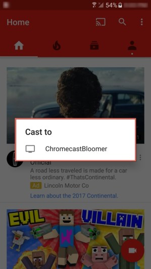 Android Chromecasting