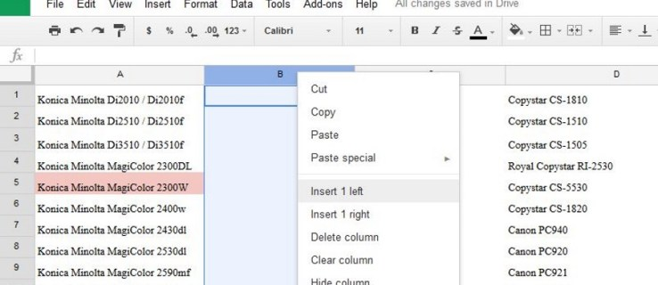 How to Add & Remove Rows and Columns in Google Sheets
