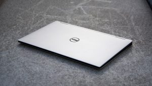 Dell XPS 13 2-in-1 lid, zoomed out