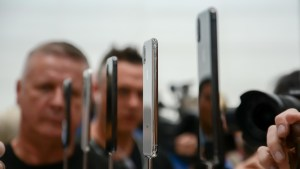 Apple iPhone X at the Apple Event
