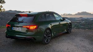 Audi RS4 Avant rear three-quarters