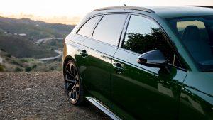 Audi RS4 Avant rear wheel arch