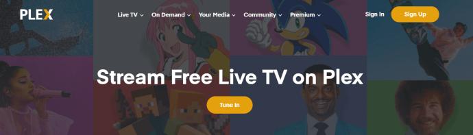 Plex.tv homepage