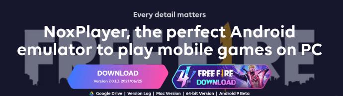 Nox Player Homepage