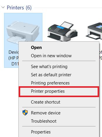 Control panel - printers