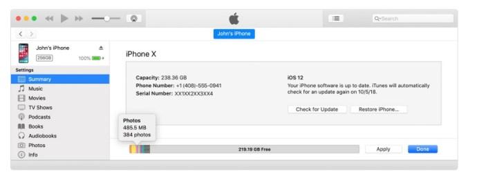 itunes iPhone Gb