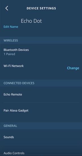Configuración del dispositivo Alexa