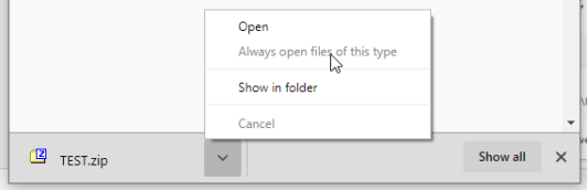 Automatically Open Downloads in Chrome
