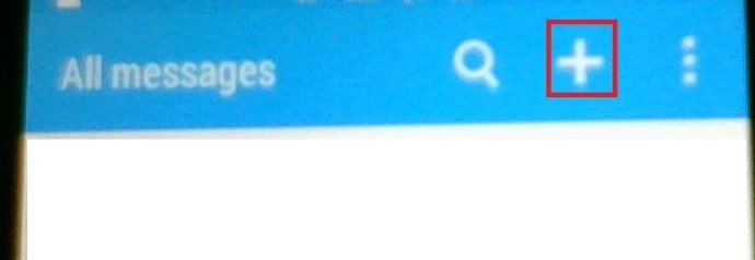 Android New Message button