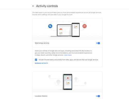 activity controls