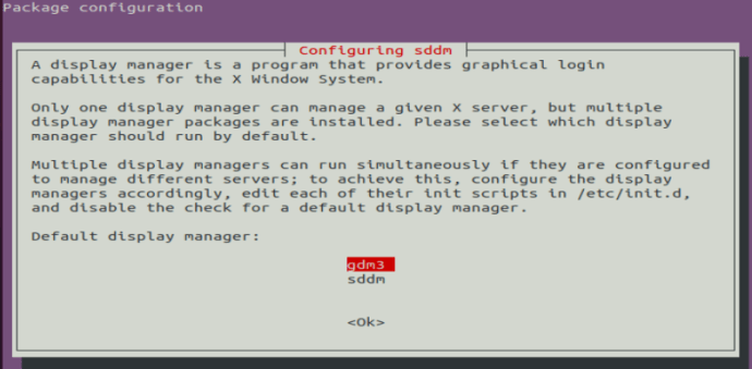 Display manager prompt