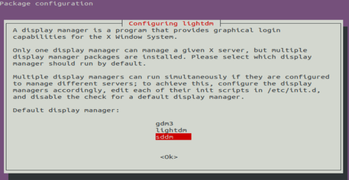 Display manager prompt 2