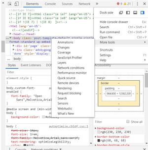 Change the User Agent String in Google Chrome