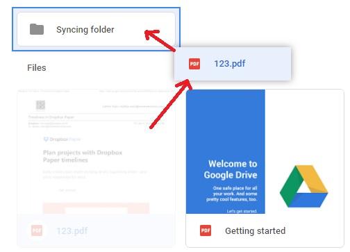 Sincronizar cuentas de Google Drive en la computadora