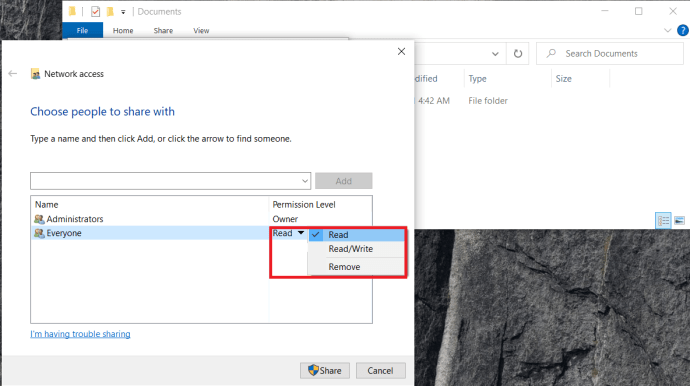 Folder Share Properties 3