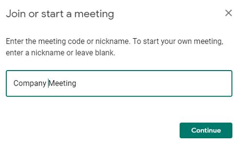 meeting name