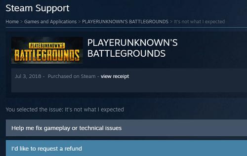 request a refund