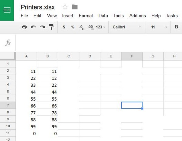 How to compare two columns in Google Pages2