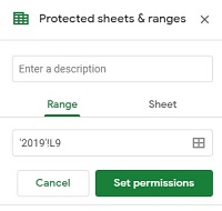protect sheets and ranges