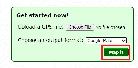 GPS Visualizer tool