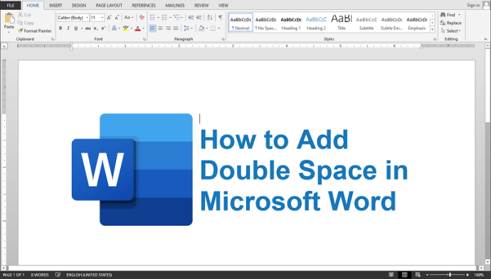 Double Space in Word Quick & Easy