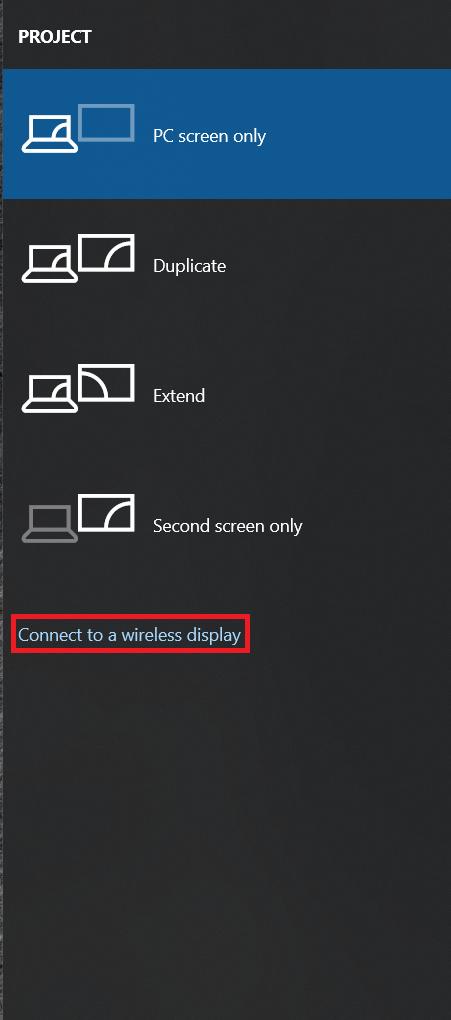 Windows 10 Project settings