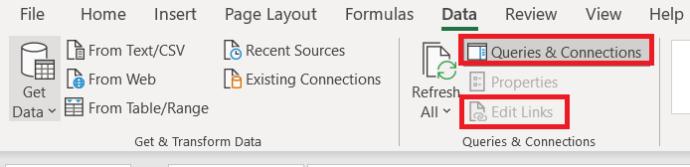 Excel settings