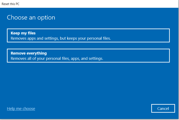 Windows Recovery Prompt