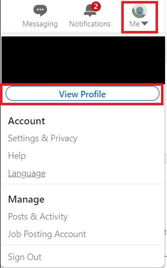 View Profile Button