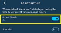 do not disturb on