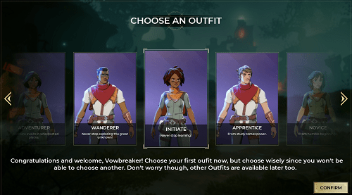 spellbreak change character