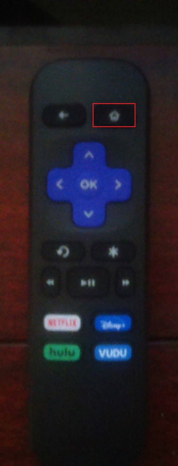Roku Remote Home Button