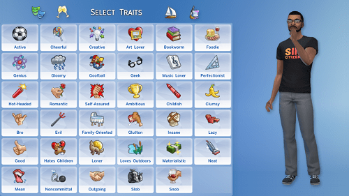 Change Traits in Sims 4