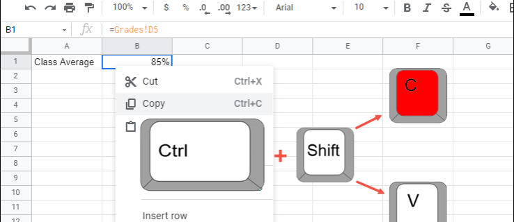 How to Copy the Value in Google Sheets (But Not the Formula)
