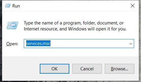Run Program - services.msc