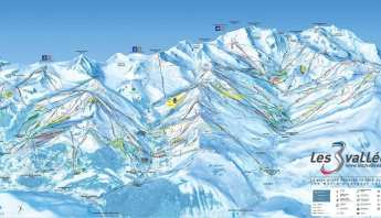 Three Valleys Piste Map