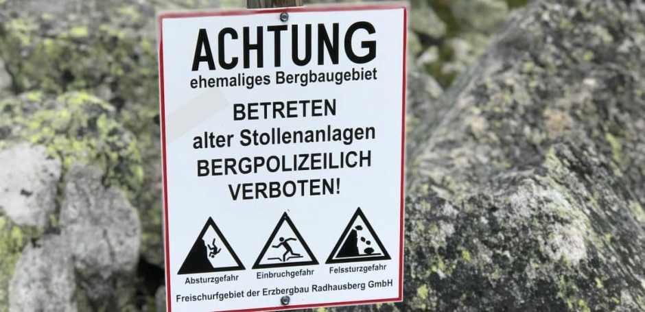 Rund um den oberen Bockhartsee ist historisches Bergbaugebiet.