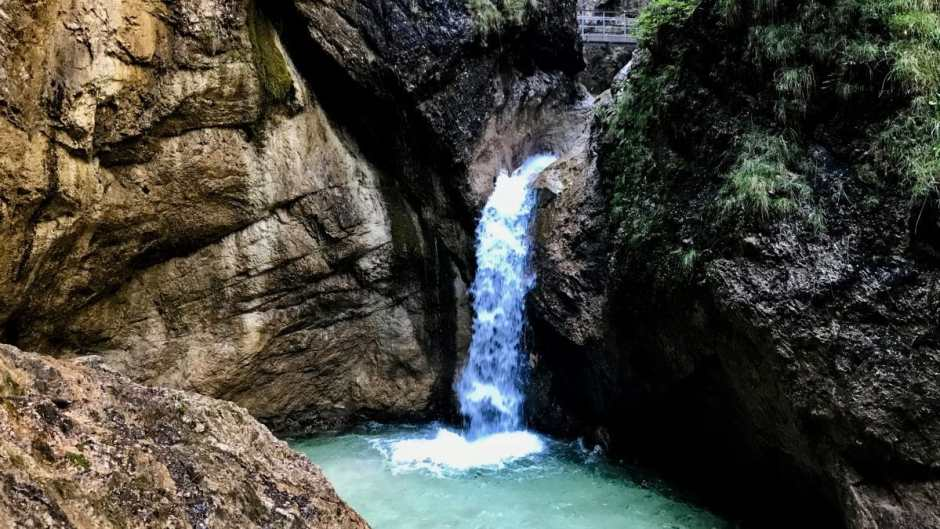 The Almbachklamm at Marktschellenberg - a beautiful canyon hike to inviting Wildswimming spots.