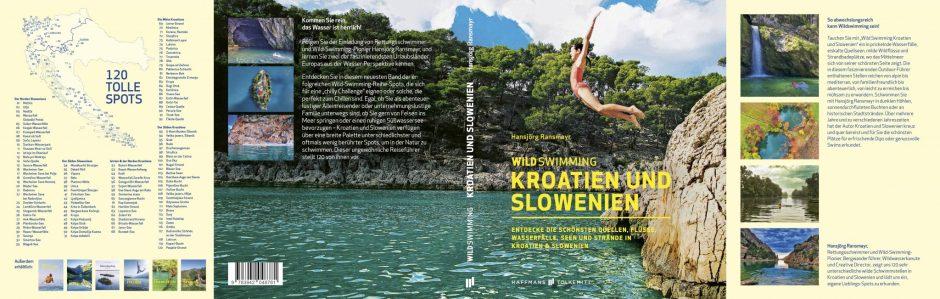 Titelseite und Einklapper von Wildswimming Kroatien und Slowenien