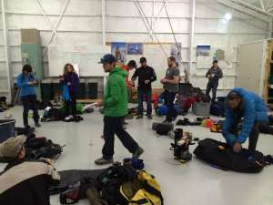 Gear check in the AAI hangar.