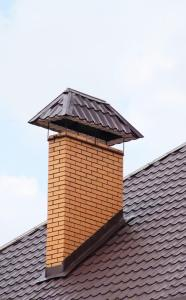 chimney with cover and flashing