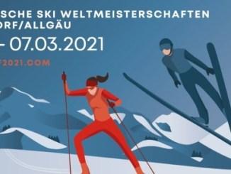 FIS Nordische Ski-WM im Februar 2021 in Oberstdorf. // Grafik: oberstdorf2021.com