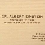 La tarjeta de visita de Albert Einstein