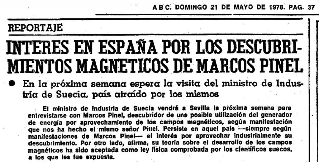 ENTREVISTA A MARCOS PINEL, INVENTOR DE LA TURBINA MAGNETICA