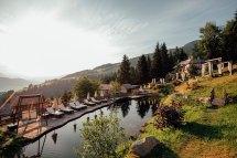 Natur- & Wellnesshotel Höflehner Naturbadeteich Sonnenaufgang