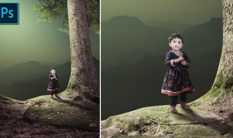 Child Photo Composite Photoshop Tutorial