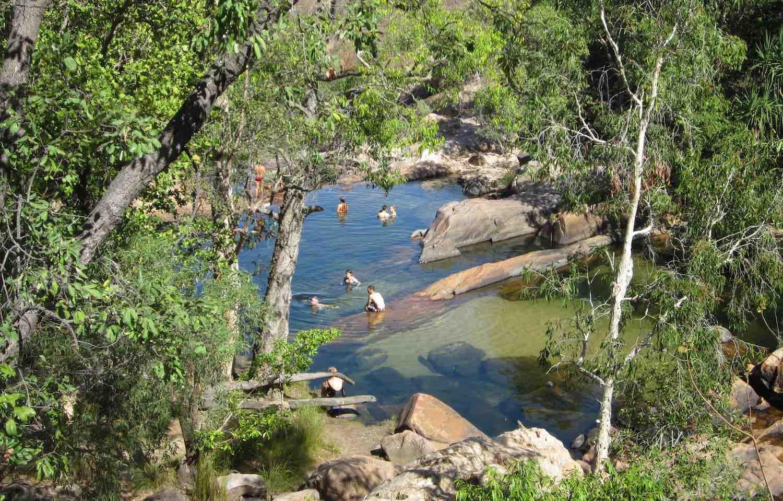 waterfall in Kakadu on a Lord's safari